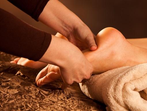 Feet reflexology at Julian Mountain Spa - Day Spa San Diego