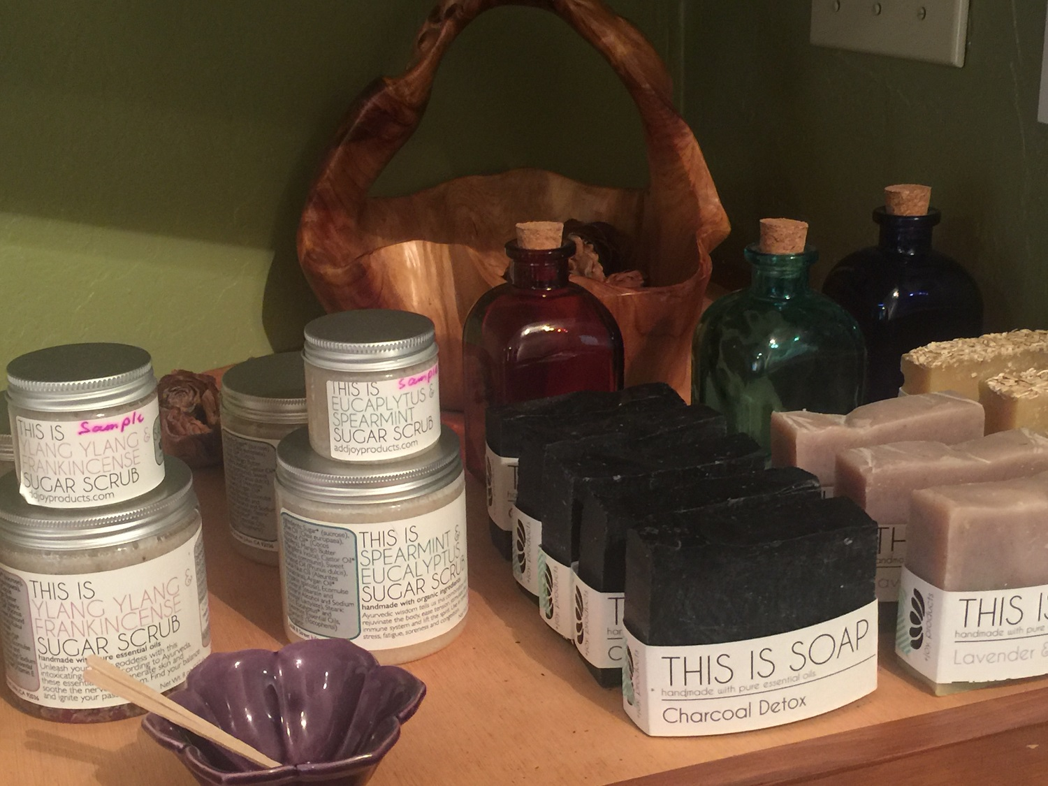 Spa products at Julian Mountain Spa